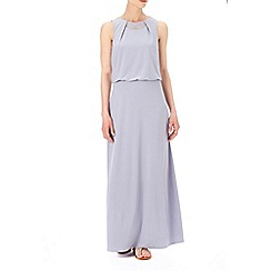Wallis - Grey bar trim maxi dress