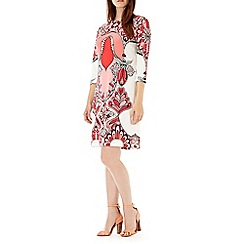 Wallis - Coral paisley tunic dress