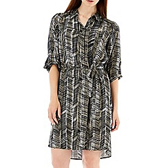 Wallis - Monochrome graphic shirt dress