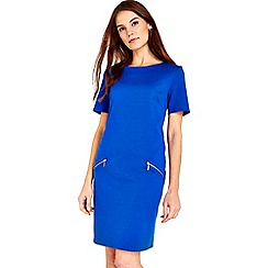 Wallis - Blue ponte zip dress