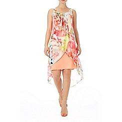 Wallis - Neon floral 2in1 dress