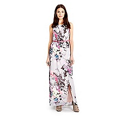 Wallis - Grey floral print  maxi dress