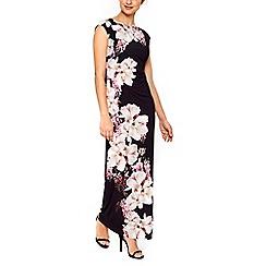 Wallis - Black floral maxi dress
