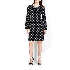 Wallis - Mono spot flare tunic dress