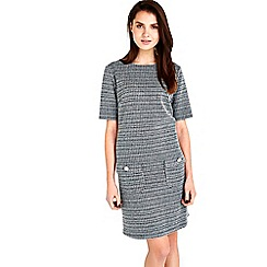 Wallis - Monochrome textured pinafore dress
