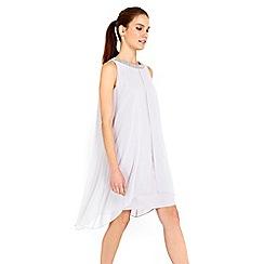 Wallis - Grey embellish 2in1 dress
