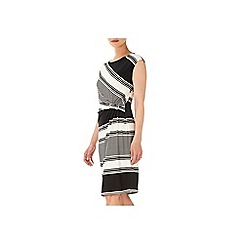 Wallis - Black and white d ring dress