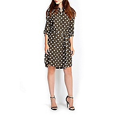 Wallis - Khaki spot shirt dress