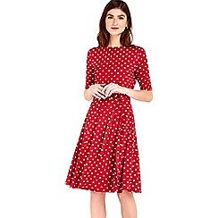 Wallis - Rust spot fit and flare dress