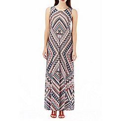 Wallis - Neutral tile print maxi dress