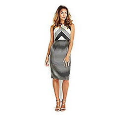 Wallis - Sapphire monochrome stripe dress