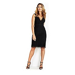 Wallis - Sapphire black v-neck lace dress
