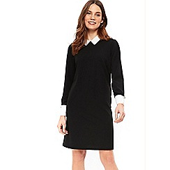Wallis - Black collar detail shift dress