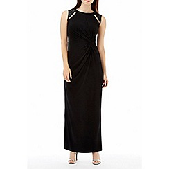 Wallis - Black embellished maxi dress