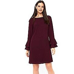 Wallis - Purple double flute sleeve shift dress