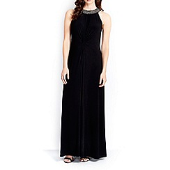 Wallis - Black embellished neck maxi