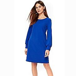 Wallis - Blue button balloon sleeve shift dress