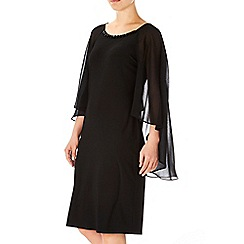 Wallis - Black cape embellished dress