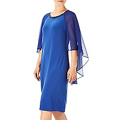 Wallis - Blue cape embellished dress