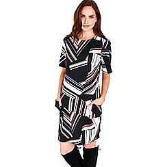 Wallis - Colour block stripe zip dress