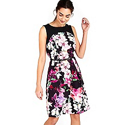 Wallis - Black orchid fit and flare dress