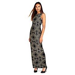 Wallis - Gold geo sparkle maxi dress