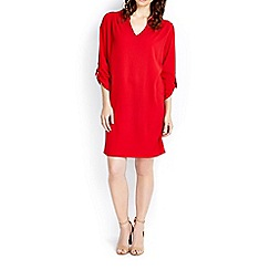 Wallis - Red woven v neck tunic dress
