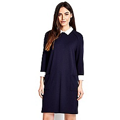 Wallis - Navy collar 2in1 dress