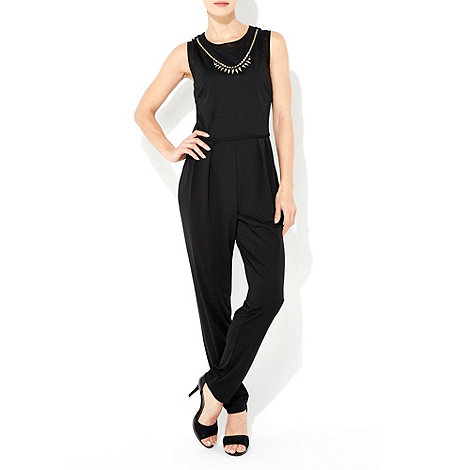 Wallis - Black necklace jumpsuit