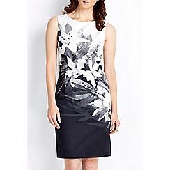 Wallis - Monochrome floral shift dress