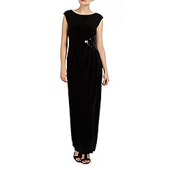 Wallis - Black sequin maxi dress