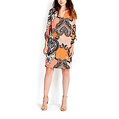 Wallis - Orange paisley tunic dress
