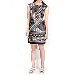 Wallis - Mono scarf zip tunic dress