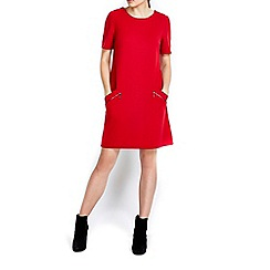 Wallis - Red slant zip ponte dress
