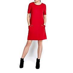 Wallis - Red slant zip ponte dress