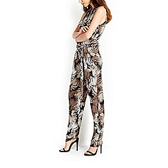Wallis - Palm print slinky jumpsuit