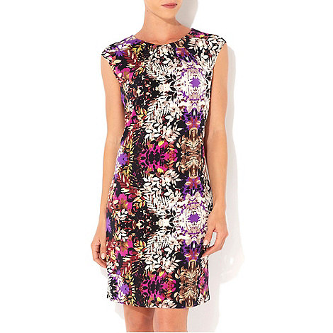 Wallis - Purple floral printed dress