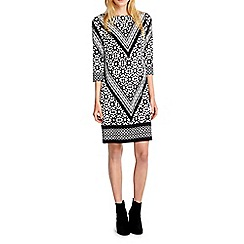 Wallis - Mono chevron tile tunic dress