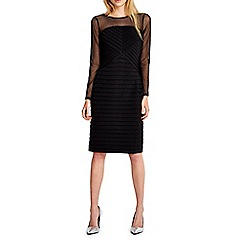 Wallis - Black mesh sleeve shutter dress