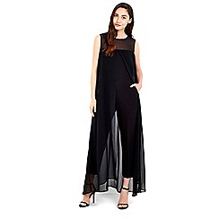 Wallis - Black overlay jumpsuit