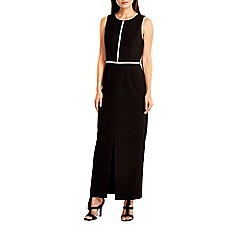 Wallis - Black diamante trim maxi dress