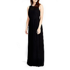 Wallis - Black sheer pleat maxi dress