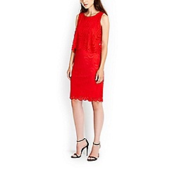 Wallis - Red geo lace pop top dress