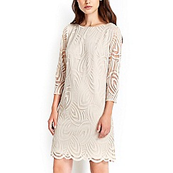 Wallis - Oyster geo 3/4 sleeve dress