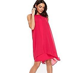 Wallis - Pink embellished neck overlay dress