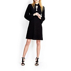 Wallis - Black high neck textured dress