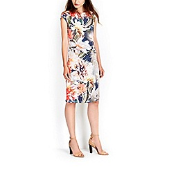 Wallis - Floral ruched wrap dress