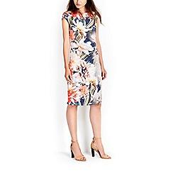 Wallis - Floral ruched wrap dress