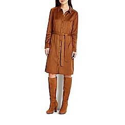 Wallis - Tan suedette shirt dress