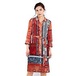 Wallis - Paisley printed shirt dress